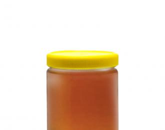 Embalagem pet Redonda para Molhos e Temperos – 220ml (300g de mel) – 63mm – REF. F035
