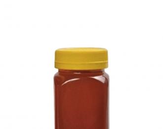Embalagem Pet pote quadrado para MEL – 360ml (500gr) – Bocal 63mm -REF: F041