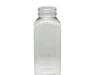 Embalagem PET quadrada para Bebidas – 300ml – Bocal 38mm – Quadrado